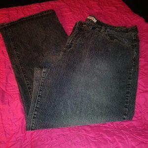 Faded Glory Women's 22W Straight Leg Jeans